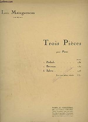 TROIS PIECES POUR PIANO - N°1 : MAINGUENEAU LOUIS