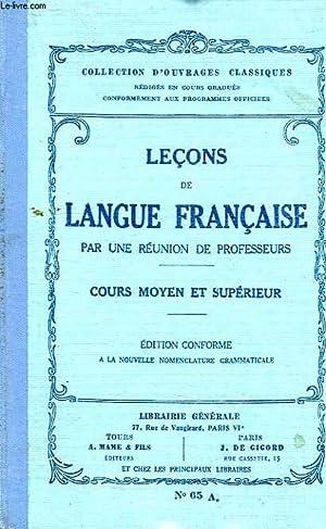 LECONS DE LANGUE FRANCAISE, COURS MOYEN ET: COLLECTIF