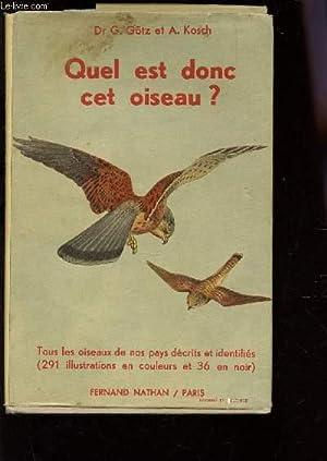 quel est donc cet oiseau by a kosch abebooks