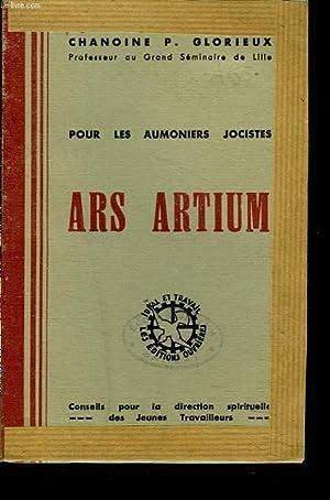 POUR LES AUMONIERS JOCISTES. ARS ARTIUM.: CHANOINE P. GLORIEUX