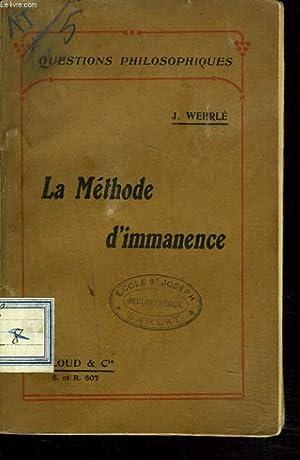 LA METHODE D'IMMANENCE: J. WHERLE
