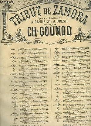 LA TRIBUT DE ZAMORA - N° 25 TER : ROMANCE EXTRAITE DU TRIO - PIANO ET CHANT.: GOUNOD CH.