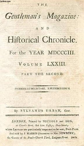 THE GENTLEMAN'S MAGAZINE, AND HISTORICAL CHRONICLE, FOR: URBAN SYLVANUS