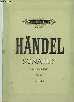 SONATEN - N°4 - 7 - FLÖTE UND KLAVIER.: HANDEL