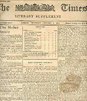 THE TIMES, LITERARY SUPPLEMENT, 13th YEAR, JAN.-DEC. 1914 (Contents of n° 624: hans Christian ...