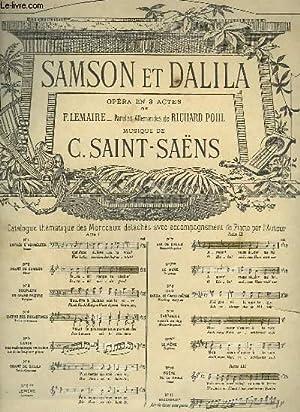 SAMSON ET DALIDA N°9 : CANTABILE EXTRAIT DU DUO.: SAINT SAENS C.