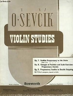 VIOLIN STUDIES - OP.9 : PREPARATORY STUDIES IN DOUBLE STOPPING.: SEVCIK O.