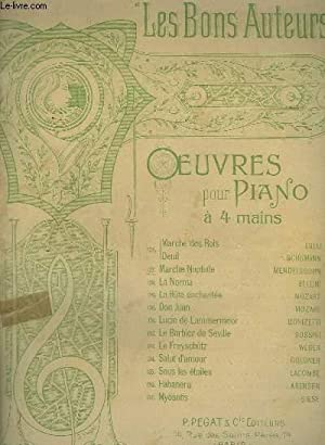 LES BONS AUTEURS - N°127 : MARCHE NUPTIALE - POUR PIANO A 4 MAINS.: MENDELSSOHN BARTHOLDY F.