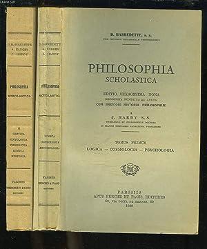 PHILOSOPHIA SCHOLASTICA. TOMES I ET II. TOMUS: D. BARBEDETTE, S.S.