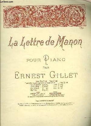 LA LETTRE DE MANON: GILLET Ernest