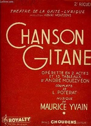 CHANSON GITANE 2EME RECUEIL: YVAIN Maurice /
