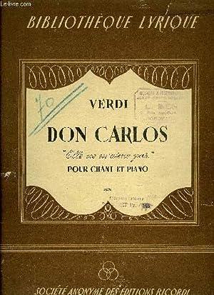 DON CARLOS: VERDI Giuseppe