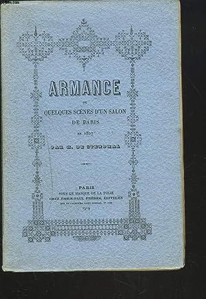ARMANCE ou QUELQUES SCENES D'UN SALON DE PARIS EN 1827.: H. DE STENDHAL