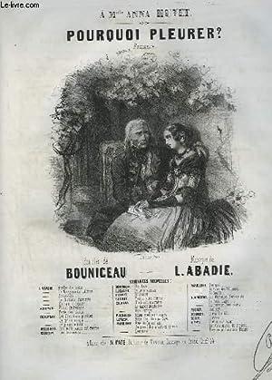 POURQUOI PLEURER ? - ROMANCE POUR PIANO ET CHANT.: ABADIE LOUIS
