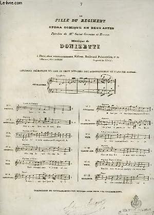 LA FILLE DU REGIMENT - OPERA COMIQUE EN 2 ACTES N°7 : ROMANCE POUR PIANO ET CHANT.: DONIZETTI