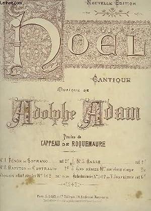 NOEL - CANTIQUE N°2 : PIANO ET CHANT BARYTON OU CONTRALTO.: ADAM ADOLPHE