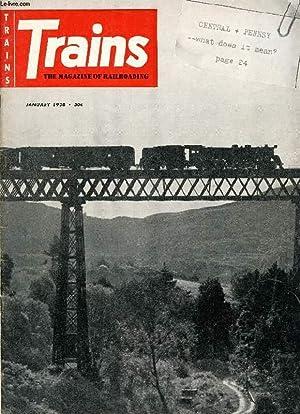 TRAINS, THE MAGAZINE OF RAILROADING, VOL. 18,: COLLECTIF