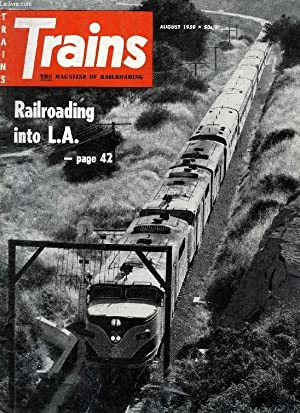 TRAINS, THE MAGAZINE OF RAILROADING, VOL. 19, N° 10, AUG. 1959 (Contents: BYE-BYE, BLACK ...