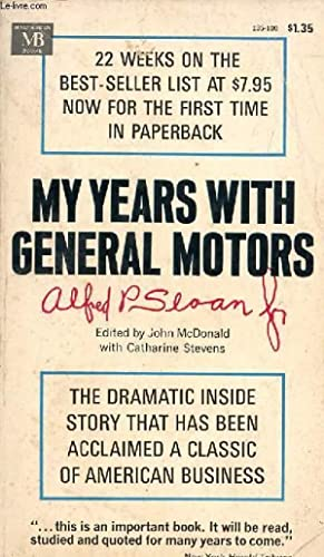 MY YEARS WITH GENERAL MOTORS: SLOAN ALFRED P., Jr.