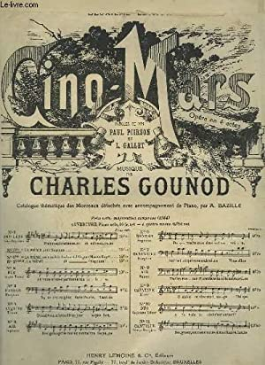 CINQ MARS - N°1 BIS : CANTILENE POUR PIANO ET CHANT SOPRANO OU TENOR.: GOUNOD CHARLES