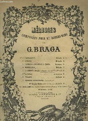 LA SERENATA - MELODIE N°5 BIS : CHANT + VIOLONCELLE OU VIOLON + PIANO.: BRAGA G.