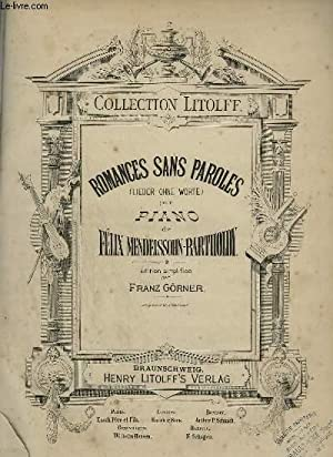 ROMANCES SANS PAROLES / LIEDER OHNE WORTE: MENDELSSOHN - BARTHOLDY