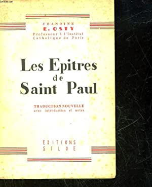 LES EPITRES DE SAINT PAUL: OSTY CHANOINE EM.