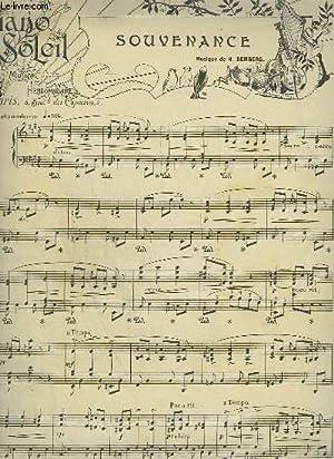 PIANO SOLEIL - N°10 DU 10 MARS 1901 : SOUVENANCE + GALANTERIE.: BEMBERG H. / LEGOUGE F.