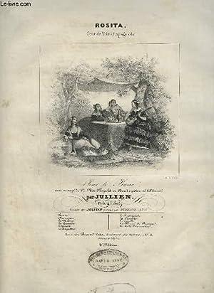 ROSITA - GRANDE VALSE ESPAGNOLE POUR LE PIANO.: JULLIEN