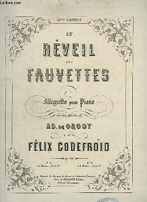 LE REVEIL DES FAUVETTES - ALLEGRO POUR PIANO.: GODEFROIS FELIX
