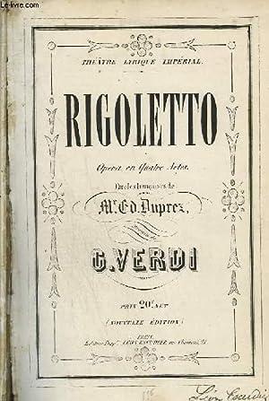 RIGOLETTO - OPERA EN 4 ACTES: VERDI G.