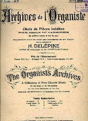 ARCHIVE DE L'ORGANISTE N°4: COLLECTIF