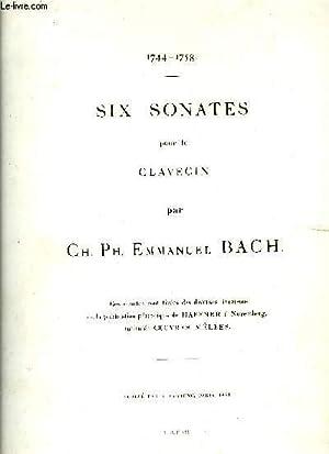 SIX SONATES POUR LE CLAVECIN: BACH Ch. Ph. Emmanuel