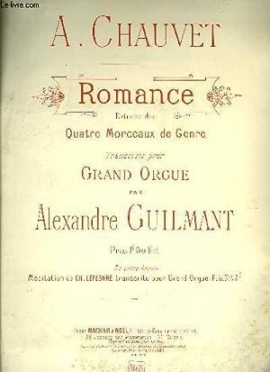 ROMANCE EXTRAITE DES QUATRE MORCEAUX DE GENRE: CHAUVET A.