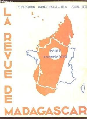 LA REVUE DE MADAGASCAR / N°10 -: SAVORNIN / RABEARIVELO