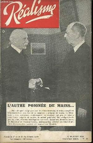 REALISME - 15 JUILLET 1950 - 2e ANNEE - N°38 / COREE, QUORUM, COMAC ERT COCASSERIES /...