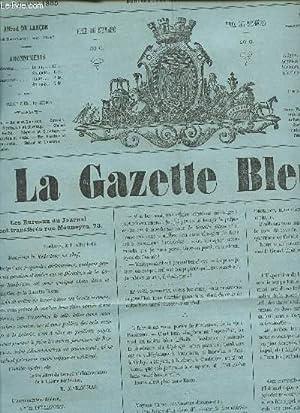 LA GAZETTE BLEUE - 1ere ANNEE - NUMERO 28 - 29 Juin 1865 / Grande Loterie bordelaise - alexandre ...