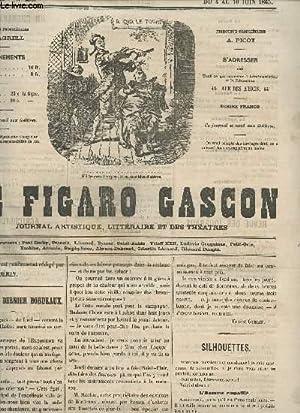 LE FIGARO GASCON - 5e ANNEE - N°236 - DU 4 AU 10 JUIN 1865 / PREMIER ET DERNIER BORDEAUX -...