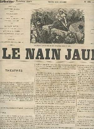 LE NAIN JAUNE - 3e ANNEE - 198 - 2 AOUT 1865 / THEATRES - LITTERATURE ETRANGERE - GUSTAVE ...