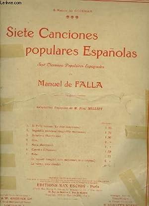 SIETE CANCIONES POPULARES ESPANOLAS - RECUEIL COMPLET DE 7 CHANSONS POPULAIRES ESPAGNOLES POUR ...