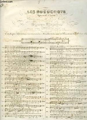 LES HUGUENOTS - N°5 : CAVATINE OU PAGE - POUR PIANO ET CHANT AVEC PAROLES.: MEYERBEER GIACOMO