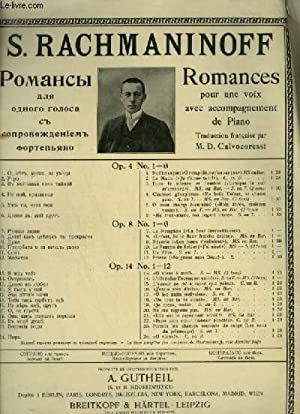 ROMANCES POUR UNE VOIX MEZZO SOPRANO + PIANO : J'AI AIME D'AMOUR.: RACHMANINOFF S.