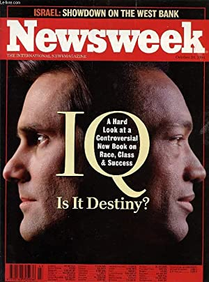 NEWSWEEK, OCT. 24, 1994 (Contents: IQ, Is it destiny ?, A hard look at a controversial new book on ...