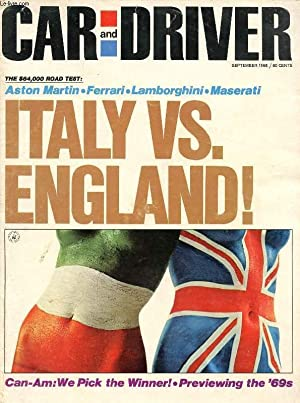 CAR AND DRIVER, VOL. 14, N° 3, SEPT. 1968 (Contents: THE $64,000 ROAD TEST, England's ...