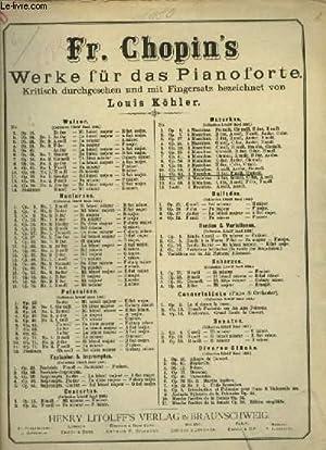 3 MAZURKAS - POUR PIANO.: CHOPIN FREDERIC