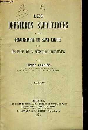 LES DERNIERES SURVIVANCES DE LA SOUVERAINETE DU: LAMEIRE IRENEE