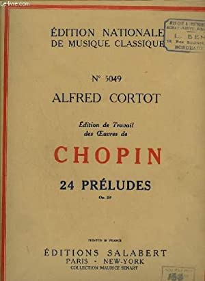 24 PRELUDES OP.28 - PIANO.: CHOPIN FREDERIC