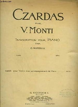 CZARDAS - POUR PIANO.: MONTI V.