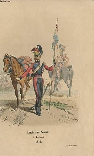 GRAVURES 19eme COULEURS - LANCIER DE NEMOURS: L. DEGHOUY -