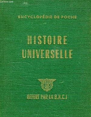HISTOIRE UNIVERSELLE, ENCYCLOPEDIE DE POCHE: COLLECTIF